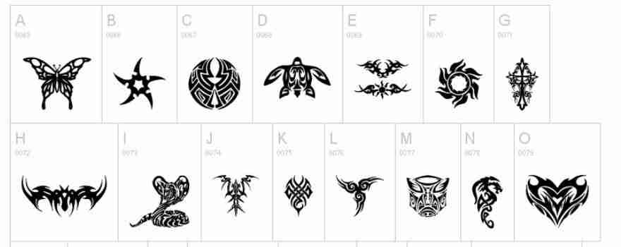 fontes para tatuagens