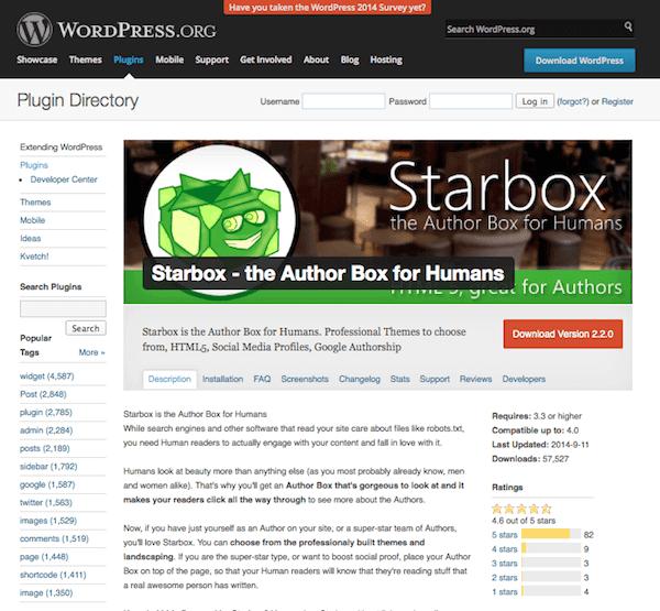Página do autor 5 starbox